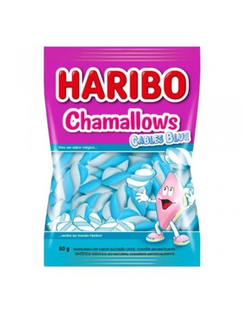 Haribo Chamallows Cables Blue 80g