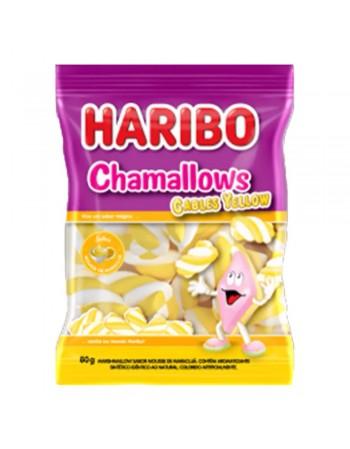 Haribo Chamallows Cables Yellow 80g