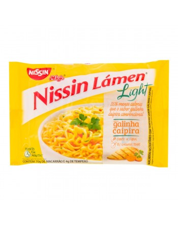 Nissin Lámen Light Galinha Caipira 74g
