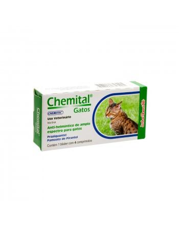 Vermifugo Chemital Gatos 4 Comprimidos