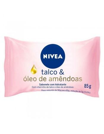 Nivea Sabonete Hidratante Talco e Óleo 85g