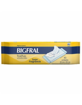 Bigfral Toalha Umedecida 40 Unidades
