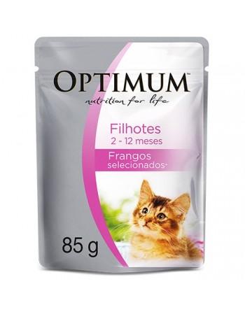 Ração Super Premium Optimum Sachê para gatos filhotes sabor frango 85G