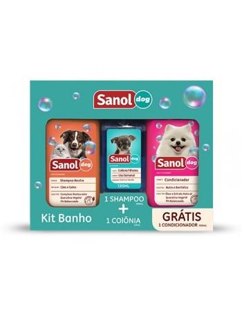 Kit Sanol Dog Shampoo + Colônia (Grátis Condicionador)