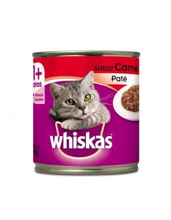 Ração Whiskas Patê em Lata sabor Carne para Gatos Adultos 290G
