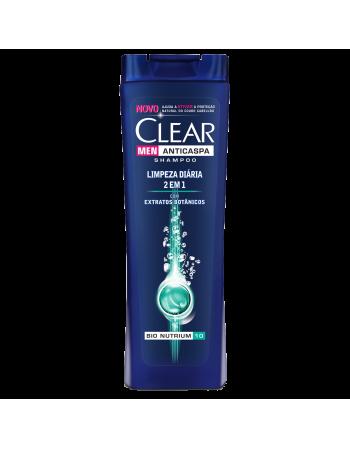 Shampoo Clear Men Anticaspa Limpeza Diária 2 em 1 400ml
