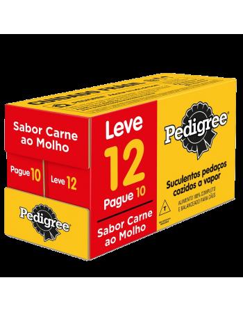 Pedigree Sachê Adultos Raças Pequenas Carne ao Molho L12 P10 12x100g