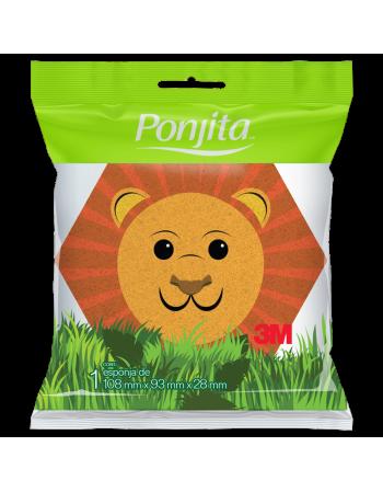 3M Ponjita Esponja Infantil Animais C/1