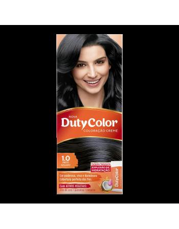 Duty Color Coloração Creme 1.0 Preto Azulado