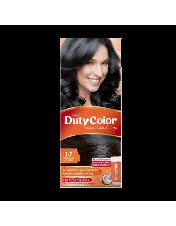 Duty Color Coloração Creme 1.7 Preto Super Azul