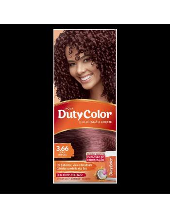 Duty Color Coloração Creme 3.66 Acaju Púrpura