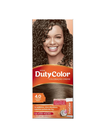 Duty Color Coloração Creme 4.0 Castanho Médio
