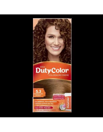 Duty Color Coloração Creme 5.3 Castanho Claro Dourado