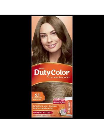 Duty Color Coloração Creme 6.1 Louro Escuro Acinzentado