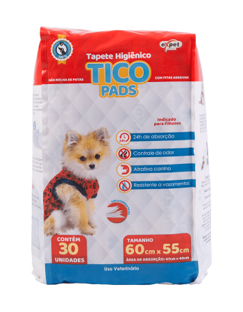 Tapete Higiênico Tico Pads 60x55 c/30